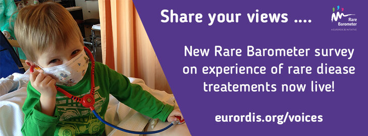 Make your voice heard: new Rare Barometer Voices survey on rare disease patients' experience of treatments is now open!